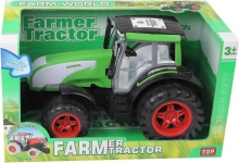 GIGATOYS 0488-153A FARMER TRACTOR RED/GREEN(BRIGHT WHEELS WITH LIGHT)