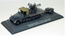 MAGAZINE 72-2 FLAKVIERLING SD.KFZ. 7/1 WITH SD. AH. TRAILER - DON RIVER SECTOR USSR 1942. ARMY GREY