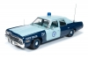 AUTOWORLD 1023 1974 DODGE MONACO PURSUIT *MASSACHUSETTS STATE POLICE*. BLUE-LIGHT BLUE