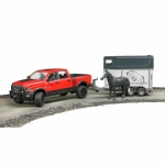 BRUDER 02501 RAM 2500 POWER WAGON WITH HORSE TRAILER AND HORSE