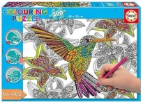 EDUCA 17083 PUZZLE 300 PIEZAS COLOURING PUZZLE - HUMMINGBIRD