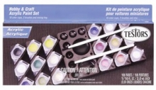 TESTORS 9186 ACRYLIC PAINT SET 18 PAINTS