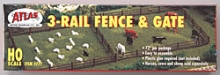 ATLAS 777 3 RAIL FENCE & GATE HO