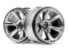 HPI 115324 6-SHOT MT WHEEL (CHROME-2PCS)