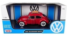 MOTORMAX 79559 1:24 1966 VOLKSWAGEN CLASSIC BEETLE – WITH ROOF LUGGAGE RACK