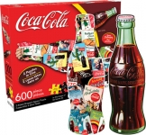 AQUARIUS 75002 COCA-COLA BOTTLE 2-SIDED 600-PIECE SHAPED PUZZLE