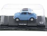MAGAZINE DPFI500B FIAT 500 IN BLISTERPACKAGE. BLUE