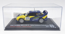 MAGAZINE RACORDO01 2001 SEAT CORDOBA WRC EVO 3 RALLY DE CATALUNYA CANELLAS/SANCHIS. BLUE