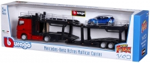 BURAGO 31456 1:43 ST. FIRE ACTROS VEHICLE CARRIER INCL. 1 1:43 SF CAR