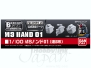 BANDAI 976502 1:100 BUILDERS PARTS: HAND -01 (EFS