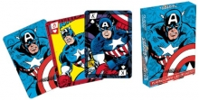 AQUARIUS 52278 MARVEL- CAPTAIN AMERICA COMICS PLAYING CARDS DECK