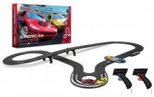 SCALEXTRIC G1098P MICRO SCALEXTRIC AMERICAN RACERS (RED NO.6 V YELLOW NO.17)
