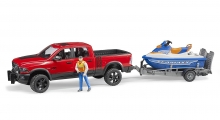 BRUDER 02503 RAM 2500 POWER WAGON WITH TRAILER PERSONAL WATER CRAFT
