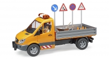 BRUDER 02537 MERCEDES BENZ SPRINTER MUNICIPAL VEHICLE WITH WORKMAN AND ACCESSORIES