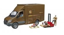 BRUDER 02538 MERCEDES BENZ SPRINTER UPS WITH DRIVER AND ACCESSORIES