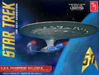 AMT 955 1:1400 STAR TREK USS ENTERPRISE NCC1701D CLEAR EDITION