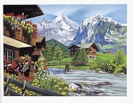 COLART 86279 MOUNTAIN CHALETS ACRYLIC PAINT BY NUMBER (11.5 PULGX15.5 PULG)
