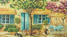 COLART 86289 ALFRESCO OUTDOOR CAFE ACRYLIC PAINT BY NUMBER (11.5 PULGX15.5 PULG)