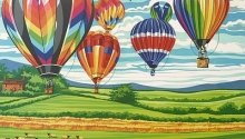 COLART 86291 HOT AIR BALLOONS ACRYLIC PAINT BY NUMBER (11.5 PULGX15.5 PULG)