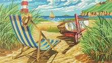 COLART 86293 SEASHORE W/LIGHTHOUSE ACRYLIC PAINT BY NUMBER (11.5 PULGX15.5 PULG)
