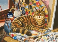 COLART 86298 THE ARTISTS CAT ACRYLIC PAINT BY NUMBER (11.5 PULGX15.5 PULG)