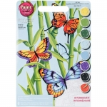 DIMENSIONS 91258 BUTTERFLIES/BAMBOO PAINT BY NUMBER (9 PULGX12 PULG)