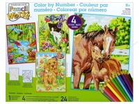 DIMENSIONS 91274 ANIMAL FRIENDS VARIETY PACK PENCIL BY NUMBER (4 9 PULGX12 PULG)