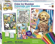 DIMENSIONS 91337 FRIENDLY ANIMALS VARIETY PACK PENCIL BY NUMBER (4 9 PULGX12 PULG)