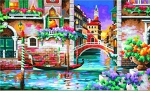 DIMENSIONS 91493 ISNT IT ROMANTIC (VENICE, ITALY) PAINT BY NUMBER (20 PULGX12 PULG)