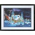 DIMENSIONS 91614 WINTERS HUSH (HOUSE, NIGHT/SNOW SCENE PAINT BY NUMBER (20 PULGX14 PULG)