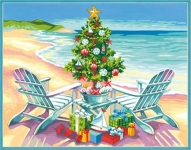DIMENSIONS 91616 CHRISTMAS ON THE BEACH PAINT BY NUMBER (14 PULGX11 PULG)