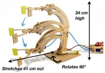 PATHFINDERS 28 HYDRAULIC ROBOTIC ARM WOODEN KIT
