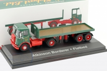 MAGAZINE STOJV9103 1:76 ATKINSON BORDERER WITH FLATBED TRAILER, GREEN/RED