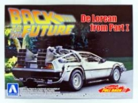 AOSHIMA 154758 1:43 DELOREAN BACK TO THE FUTURE I, PLASTIC MODELKIT