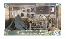 MCTOYS 77083 WORLD PEACEKEEPERS- MILITARY CAMPSITE (3 FIGURES INCLUDED)