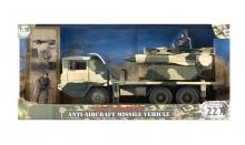 MCTOYS 77090 WORLD PEACEKEEPERS- ANTI-AIRCRAFT MISSILE VEHICLE (2 FIGURES INCLUDED)
