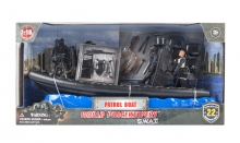 MCTOYS 77128 WORLD PEACEKEEPERS- S.W.A.T. - PATROL BOAT. (3  FIGURES INCLUDED)