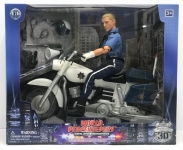MCTOYS 90174 WORLD PEACEKEEPERS - POLICE OFFICIER WITH MOTORBIKE AND ACCESSORIES