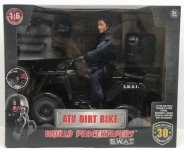 MCTOYS 90195 WORLD PEACEKEEPERS  - S.W.A.T. - ATV DIRT BIKE