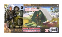 MCTOYS 90619 WORLD PEACEKEEPERS - MILITARY FIGURE WITH TENT