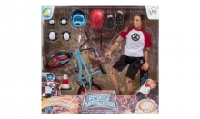 MCTOYS 90741 WORLD PEACEKEEPERS - SPORT &  ADVENTURE - FREESTYLE BIKE & SKATEBOARD