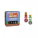 USAOPOLY CM005-435 BOARD GAME SUPER MARIO 8BIT CHECKERS/TIC TAC TOE