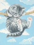 DIMENSIONS 91226 HANG ON KITTY PAINT BY NUMBER (9PULGX12PULG)