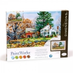 DIMENSIONS 91652 PRECIOUS DAYS (COUNTRY FARM HOME) PAINT BY NUMBER (20PULGX12PULG)
