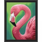 DIMENSIONS 91677 FLAMINGO FUN PAINT BY NUMBER (11PULGX14PULG)