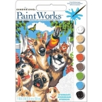 DIMENSIONS 91679 PET ANIMALS SELFIE PAINT BY NUMBER (9PULGX12PULG)