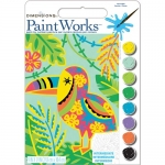 DIMENSIONS 91680 TOUCAN (WHIMSICAL PATTERN) PAINT BY NUMBER (9PULGX12PULG)