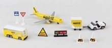 REALTOY RT3871 SPIRIT AIRLINES A320 AIRPORT DIE CAST PLAYSET (10PC SET)