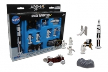 REALTOY RT9117 APOLLO 11 50TH ANNIVERSARY LUNAR LANDING SPACE PLASTIC PLAYSET (9PC)