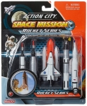 REALTOY RT9123 SPACE SHUTTLE & 4 ROCKETS PLASTIC PLAYSET